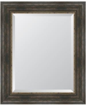 Black and Bronze Slope Framed Mirror - 30.5