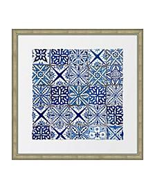 """Ancient Tiles II Framed Giclee Wall Art - 28"""" x 28"""" x 2"""""""