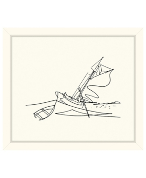 Boating in High Waves Sketch Framed Giclee Wall Art - 29
