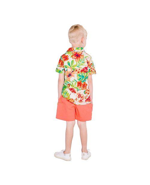 e3a246fd3ebd3 Masala Baby Boys Flamingo Island Shirt - Shirts & Tees - Kids - Macy's