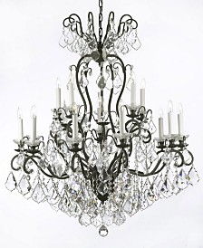 Versailles 16-Light Iron and Crystal Chandelier