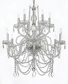 Venetian Style 12-Light Swarovski Crystal Chandelier