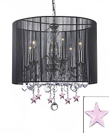 Empress 6-Light Chandelier with Shade and Crystal Stars