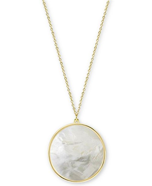 32c8ee69513 Argento Vivo Mother-of-Pearl Disc 16-1/2