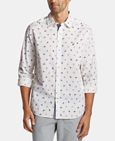 Nautica Men's Big & Tall Flag-Print Graphic Shirt