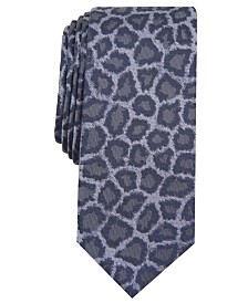 I.N.C. Men's Jaguar Skin Skinny Tie, Created for Macy's