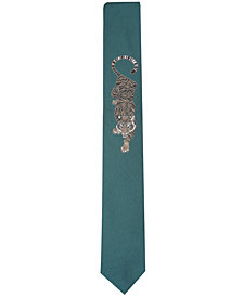 I.N.C. Men's Tiger Panel Skinny Tie, Created for Macy's