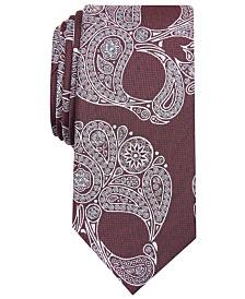 I.N.C. Men's Paisley Skull Skinny Tie, Created for Macy's