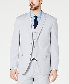 Men's Slim-Fit Performance Stretch Wrinkle-Resistant Light Gray Suit Jacket, Created for Macy's