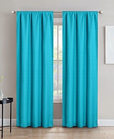 "Sun+Block Foam Back Blackout Rod Pocket Curtain Panel Pair 42""x84"""