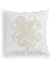 """Clover 18"""" Square Decorative Pillow, Created for Macy's"""
