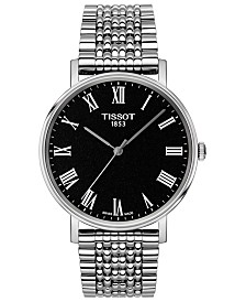 Tissot Men's Swiss T-Classic Everytime Stainless Steel Bracelet Watch 38mm