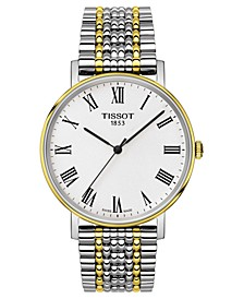 Men's Swiss T-Classic Everytime Two-Tone PVD Stainless Steel Bracelet Watch 38mm