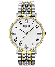 Tissot Men's Swiss T-Classic Everytime Two-Tone PVD Stainless Steel Bracelet Watch 38mm