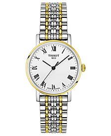 Women's Swiss T-Classic Everytime Two-Tone PVD Stainless Steel Bracelet Watch 30mm