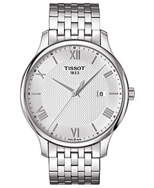 Men's Swiss T-Classic Tradition Stainless Steel Bracelet Watch 42mm