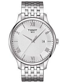Tissot Men's Swiss T-Classic Tradition Stainless Steel Bracelet Watch 42mm