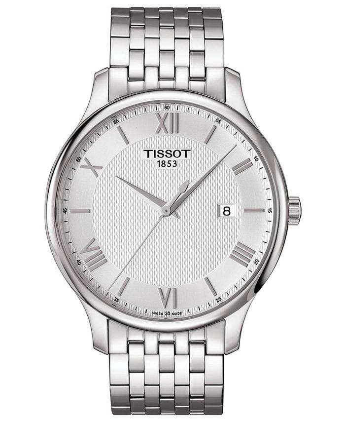 Tissot - Men's Swiss T-Classic Tradition Stainless Steel Bracelet Watch 42mm