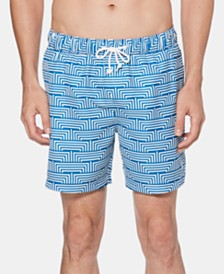 "Original Penguin Men's Graphic 6"" Swim Trunks"