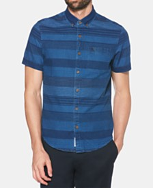 Original Penguin Men's Indigo Stripe Shirt
