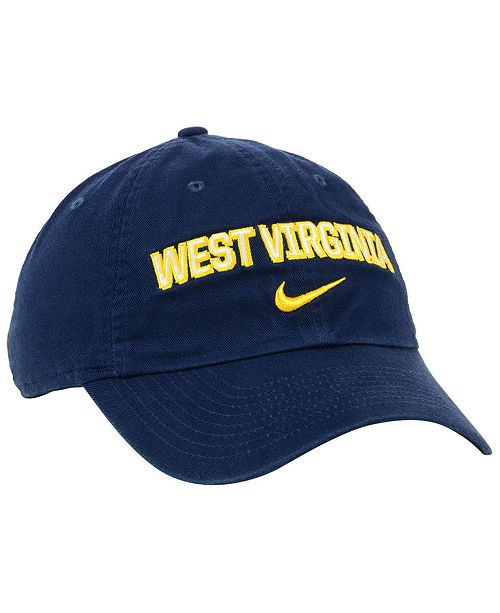 ebb45834b68 Nike West Virginia Mountaineers H86 Wordmark Swoosh Cap - Sports Fan ...