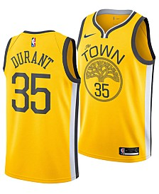 Nike Kevin Durant Golden State Warriors Earned Edition Swingman Jersey, Big Boys (8-20)