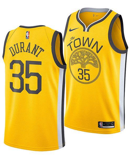 Nike Kevin Durant Golden State Warriors Earned Edition Swingman Jersey, Big Boys (8-20)