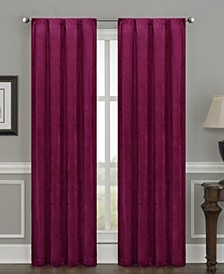 "Silk+Home Luxury Velvet Blackout Rod Pocket Curtain Panel Pair 52""x95"""