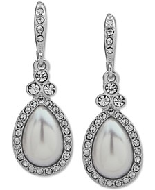 Stone Pear-Shape Drop Earrings