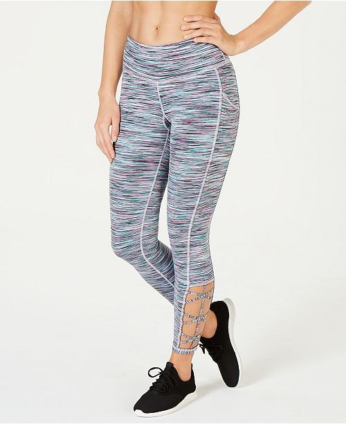 Ideology Space-Dyed Cutout Leggings, Created for Macy's