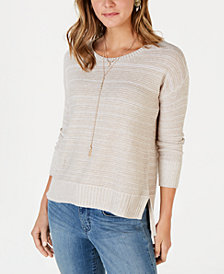 Style & Co Petite Drop-Shoulder Sweater, Created for Macy's