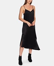 1.STATE Soft Satin Slip Dress