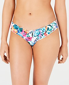 SUNDAZED Spring Fling Cheeky Bikini Bottoms, Created for Macy's