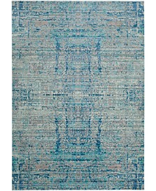 Mystique Light Blue and Multi 4' x 6' Area Rug