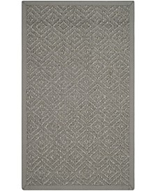 "Safavieh Natural Fiber Light Gray and Gray 2'6"" x 4' Sisal Weave Area Rug"