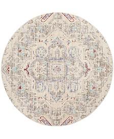 Safavieh Windsor Light Gray and Ivory 6' x 6' Round Area Rug