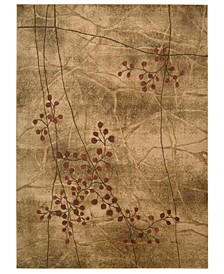"CLOSEOUT! Area Rug, Somerset Collection ST74 Latte Blossom 5'6"" x 7'5"""