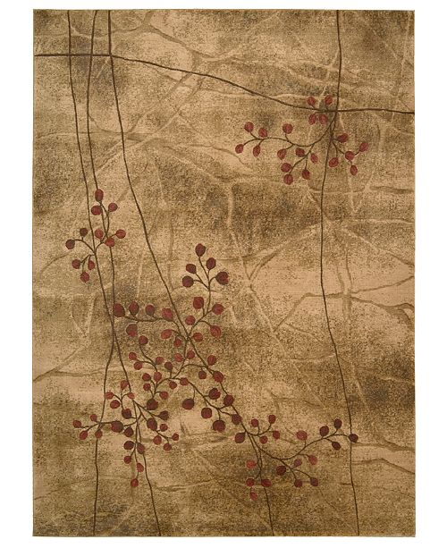Nourison CLOSEOUT! Area Rugs, Somerset Collection ST74 Latte Blossom