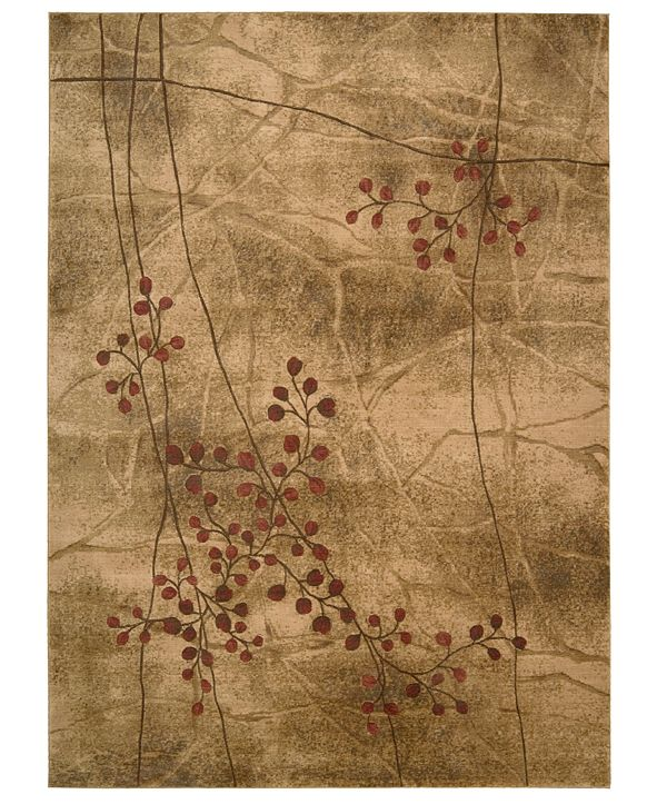 """Nourison CLOSEOUT! Area Rug, Somerset Collection ST74 Latte Blossom 7'9"""" x 10'10"""""""