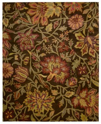 "CLOSEOUT! Area Rug, Rajah Collection JA41 Tapestry Chocolate 3'9"" x 5'9"""