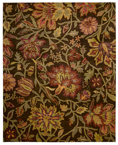 CLOSEOUT! Nourison Area Rug, Rajah Collection JA41 Tapestry Chocolate 3'9