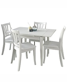 CorLiving 5pc Extendable Wooden Dining Set