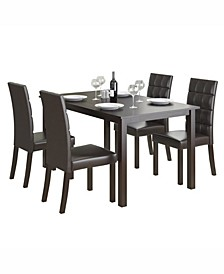 """5pc 55"""" Wide Dining Set, with Leatherette Seats"""