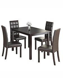 """5pc 43"""" Wide Dining Set, with Leatherette Chairs"""