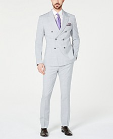 Orange Men's Slim-Fit Stretch Heather/Gray Mélange Double-Breasted Suit