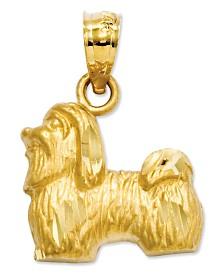 14k Gold Charm, Shih Tzu Charm