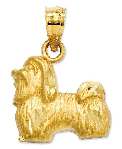 Macy's 14k Gold Charm, Shih Tzu Charm