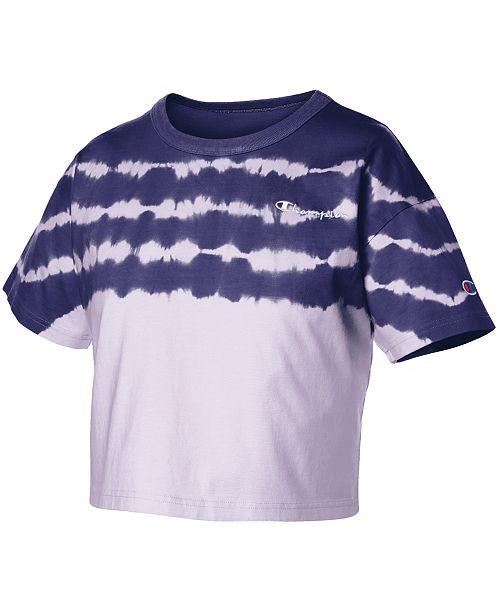7f10bb6f09c Champion Cotton Streak-Dyed Cropped T-Shirt & Reviews - Tops - Women ...