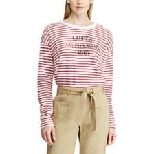 Lauren Ralph Lauren Striped Cotton Sweatshirt