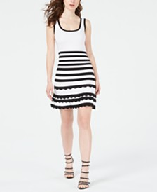 GUESS Antoinette Striped Sweater Dress